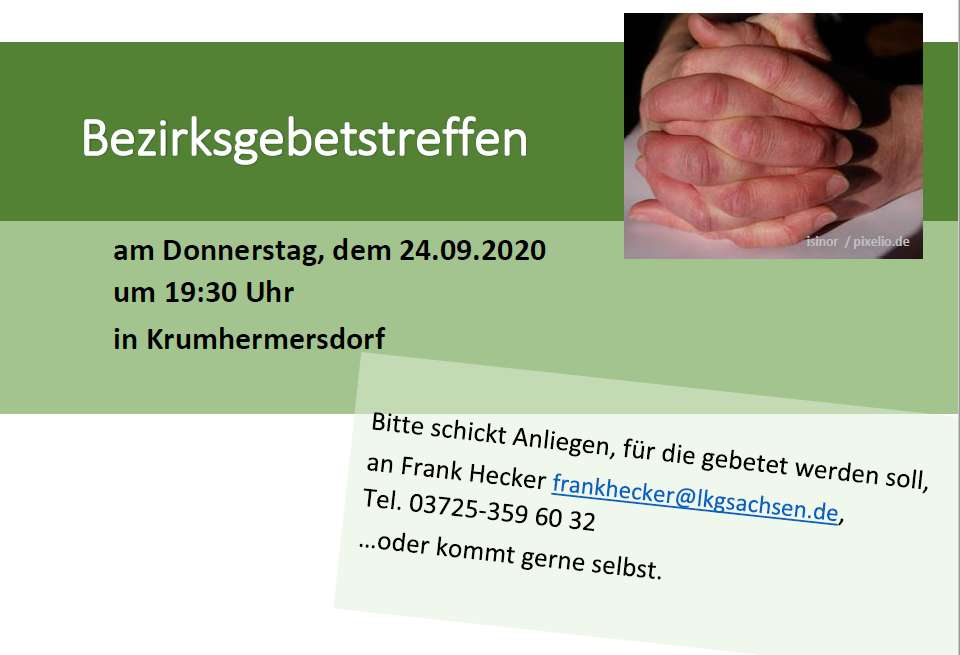 Bezirksgebetstreffen 24.09.2020