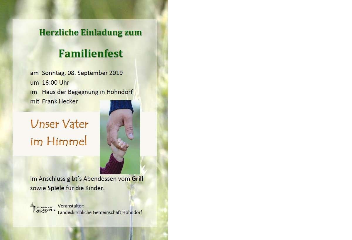 Familienfest Hohndorf 2019